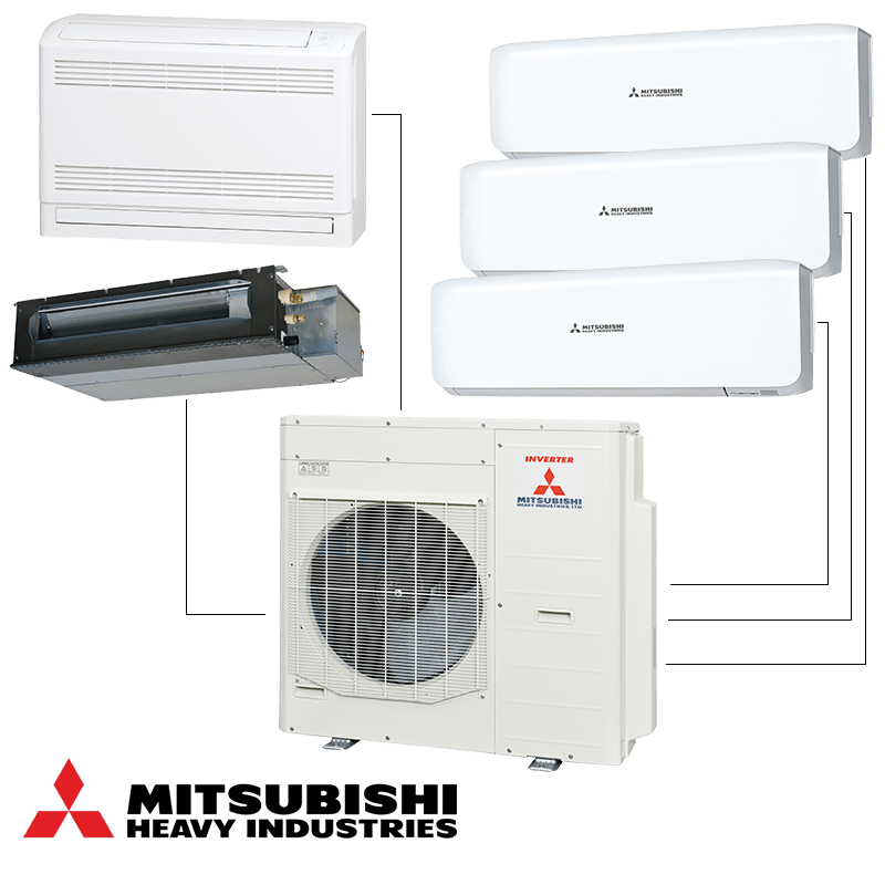 Мултисплит система Mitsubishi Heavy Industries SCM100ZM-S - външно тяло