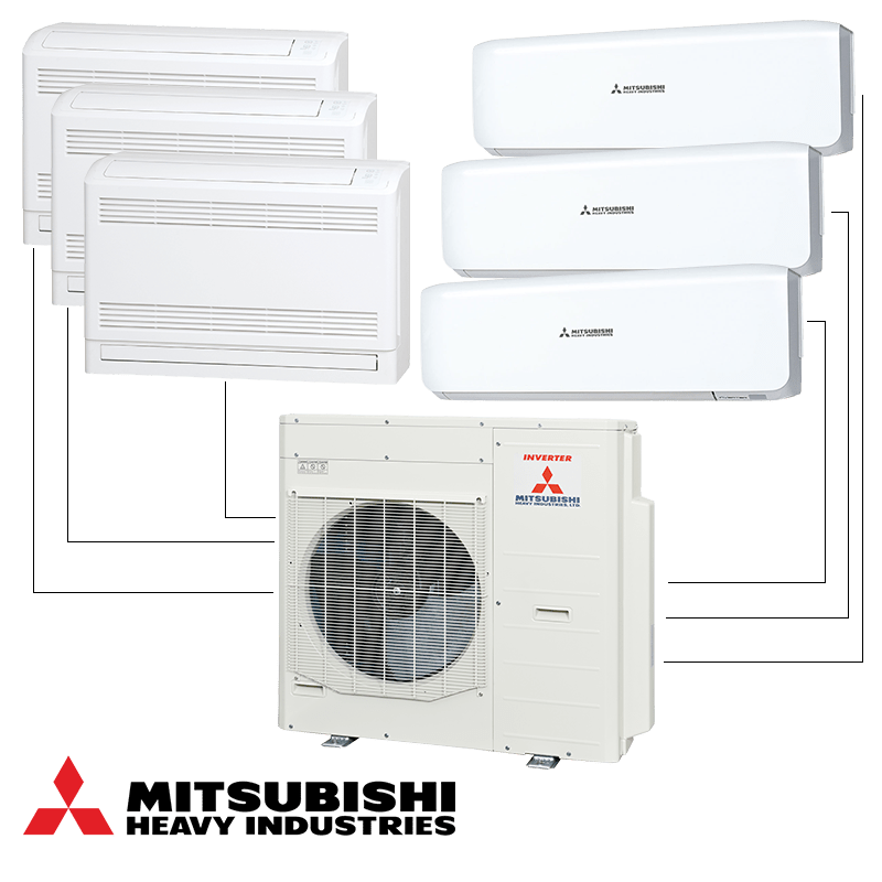 Мултисплит система Mitsubishi Heavy Industries SCM125ZM-S - външно тяло