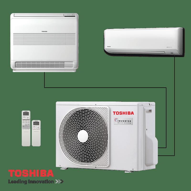 Мултисплит система Toshiba RAS-2M18S3AV-E - външно тяло